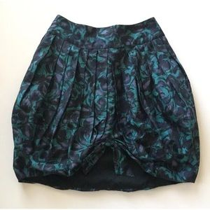 Anna Sui for Anthropologie Floral Bubble Skirt